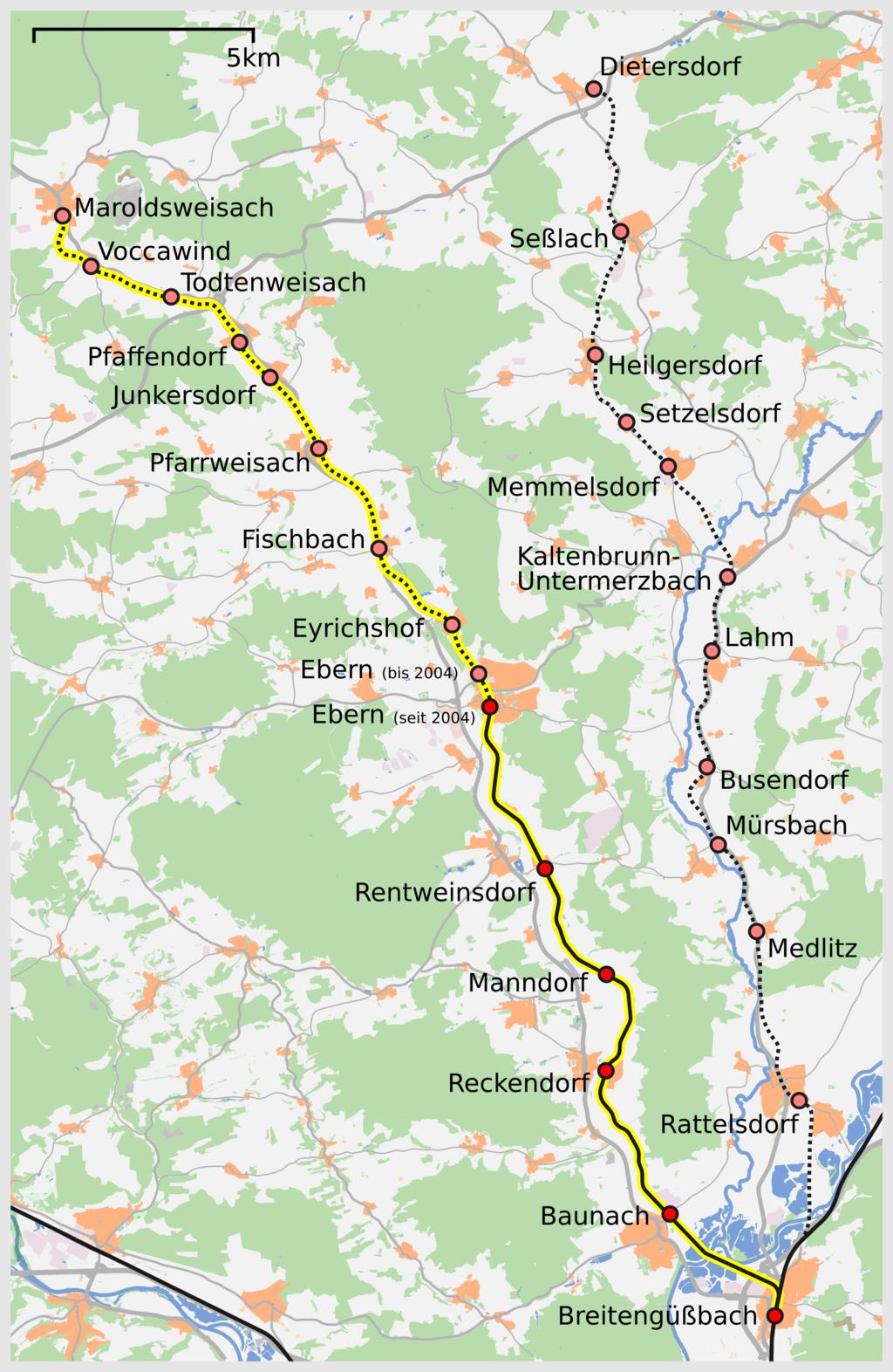 Bahnstrecke Breitengüßbach–Maroldsweisach