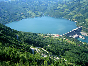 Perućac lake - Perućac and Bajina Bašta hydroelectric power plant