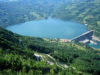 Perućac lake - Perućac and Bajina Bašta hydroelectric power plant