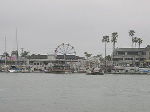 The Balboa Fun Zone as seen from the water. Ne...