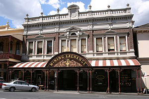 Victorian Heritage Register - The Mining Exchange, Ballarat, Victoria. A building on the Victorian Heritage Register
