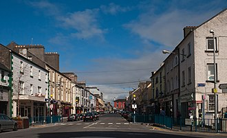 Main Street, Ballinasloe, where the first Supermac's restaurant is located Ballinasloe Main Street 2010 09 15.jpg