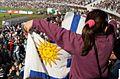 Bandera uruguaya estadio Centenario.jpg