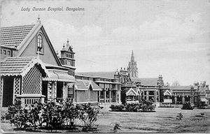 History of Bangalore - Lady Curzon hospital in the Bangalore Cantonment was established in 1864 and later named after the first wife of the Viceroy of India, Lord Curzon.