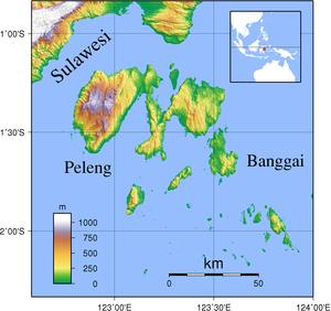 Peleng - Image: Banggai Islands Topography