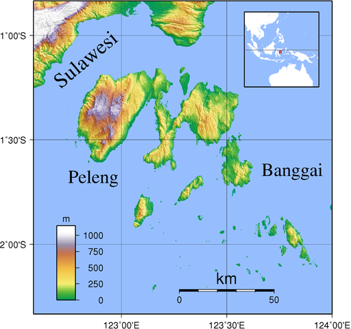 Banggai Islands Topography