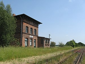 Hagenow Land–Bad Oldesloe railway - Station building in Bantin