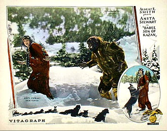 Jack Curtis (actor) - Lobby card for Baree, Son of Kazan (1925) with Anita Stewart and Jack Curtis