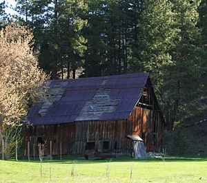 Chelan County, Washington - Old barn, Chumstick, Washington