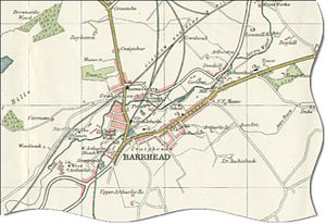 Barrhead - Map of Barrhead in 1923