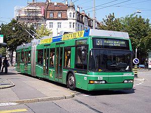 Trolleybuses in Basel - Basel Neoplan trolleybus no. 929 on line 31, August 2005.