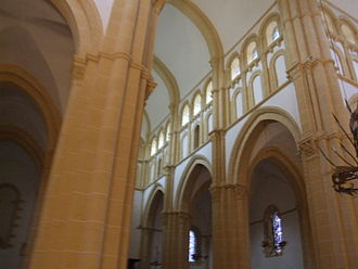 Basilica of Paray-le-Monial - View of the nave.