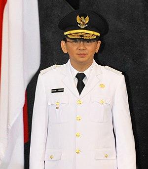 Jakarta gubernatorial election, 2017 - Image: Basuki Tjahaja Purnama
