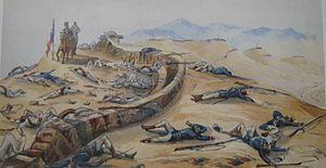 Batalla de chorrillos - linea peruana tras la lucha.jpg