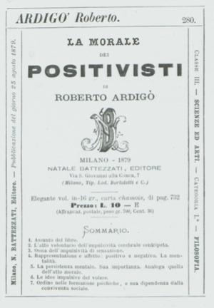 Natale Battezzati - Sample card from Natale Battezzati's card system, 1871