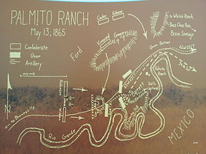 Battle of Palmito Ranch - Sketch map of battle