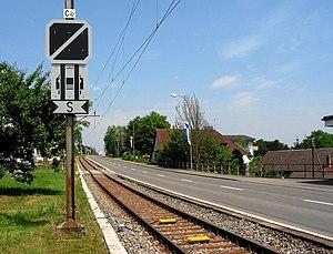 Seetal railway line - Typical roadside track