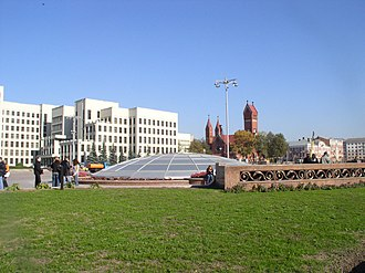Minsk - Independence Square in the centre of Minsk.