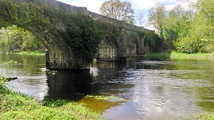 River Erne - A remnant of the GNR being a viaduct spanning the river near Belturbet railway station.
