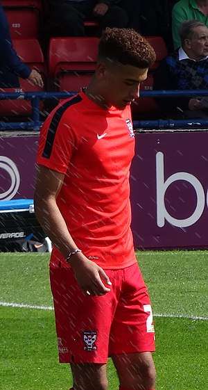Ben Godfrey - Godfrey warming up for York City in 2015