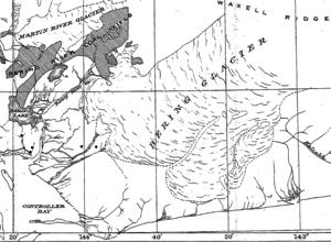 Bering Glacier - 1917 USGS map depicting the extent of the Bering Glacier