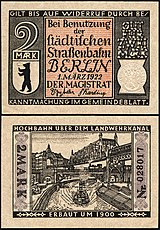 Berlin-Straßenbahn Hochbahn 2 Mark.jpg