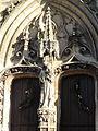 Bessancourt (95), église Saint-Gervais-et-Saint-Protais, portail occidental, Vierge à l'Enfant 1.jpg
