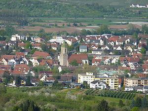 Beutelsbach (Weinstadt) - Image: Beutelsbach mit Kirche