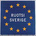 Bilingual Schengen border sign, Sweden.JPG