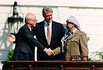 Bill Clinton, Yizhak Rabin e Yasser Arafat