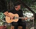 Bill Jacobi (Australian roots musician) on stage in NSW, Australia, 2018 (Tony Rees photograph).jpg