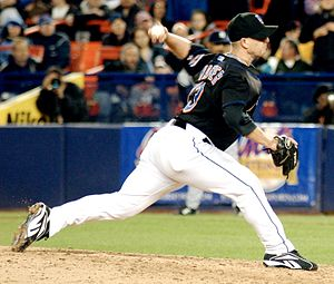 New York Mets pitcher Billy Wagner pitching