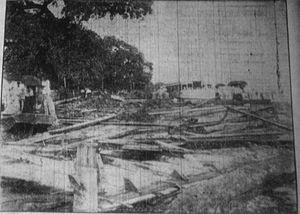 1909 Grand Isle hurricane - A home destroyed near Biloxi, Mississippi