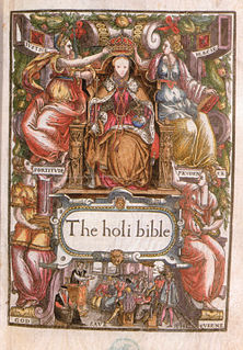 Bishops Bible English translation of the Bible authorized by the Church of England and published in 1568