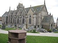 Biville (Manche, Fr) église, vue de l'ouest.jpg
