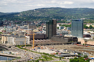 1987 in Norway - Oslo Central Station (Oslo S) opens on 12 February