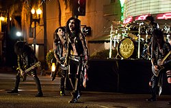 Black Veil Brides bei dem Videodreh zum Song Rebel Love Song