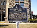 Blackford County Courthouse Historic Marker.JPG