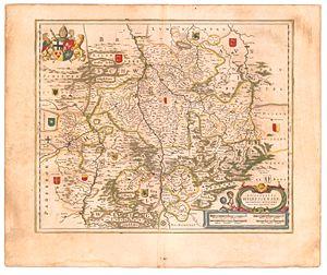 Bishopric of Hildesheim - Episcopatus Hildesiensis, ed. by Joan Blaeu, 1645