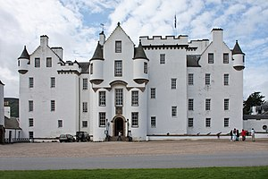 Blair Castle - East front of Blair Castle