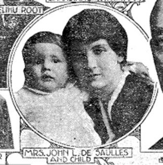 "John de Saulles - Blanca Errázuriz and her only child, John ""Jack"" de Saulles Jr. (1917)"