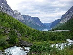 Lakes in Norway - View of Jølstravatn in Jølster, Sogn og Fjordane