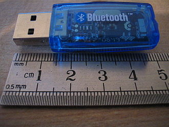 Bluetooth - A typical Bluetooth USB dongle.