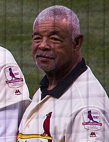 Bobby Tolan in 2017 - 1967 St.Louis Cardinals Reunion team (cropped).jpg