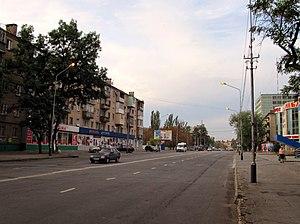 Melitopol - Bohdan Khmelnytskyi Avenue in Melitopol