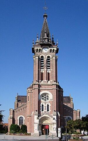 Bondues - Image: Bondues église St Vaast