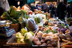 Borough Market - Vegetable stall