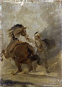Bourgeois, Sir Peter Francis - A Man holding a Horse - Google Art Project.jpg