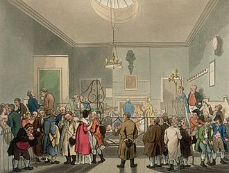 Bow Street Runners - Bow Street Runners, London's first, professional police force.  A 19th century depiction, of the courtroom at 4 Bow Street, initially, a room in the private house of magistrate Thomas de Veil