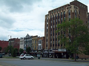 National Register of Historic Places listings in McKean County, Pennsylvania - Image: Bradford Downtown Historic District Jun 09